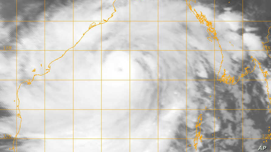 This image provided by the U.S. Naval Research Lab shows Cyclone Phailin on Oct. 11, 2013.