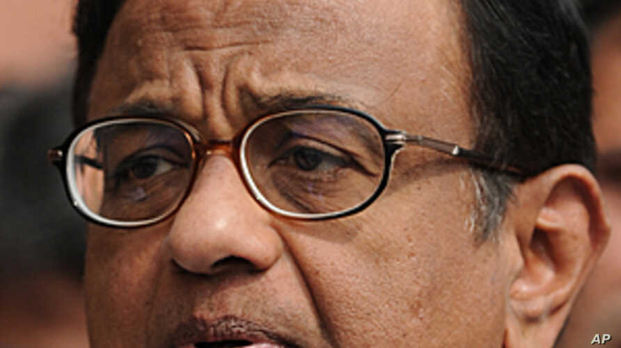 Indian home minister P. Chidambaram speaks to the media after a government security meeting in New Delhi, February 14, 2012.