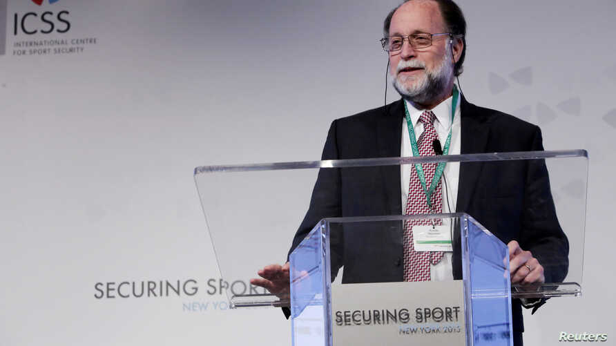 FILE - Ricardo Hausmann from Harvard University speaks on Day 1 of Securing Sport 2015, the annual conference of the International Center for Sports Security (ICSS), Nov. 4, 2015..