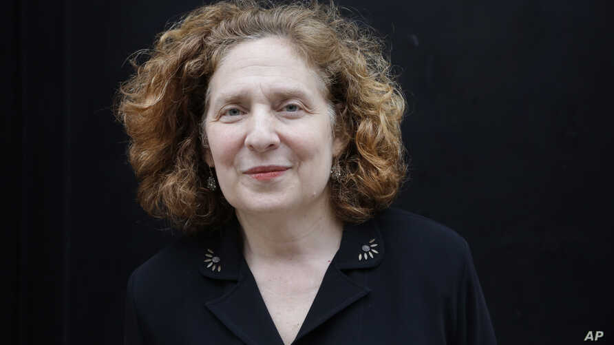 Julia Wolfe, winner of the Pulitzer Prize for music, poses for a portrait, April 20, 2015 in New York.