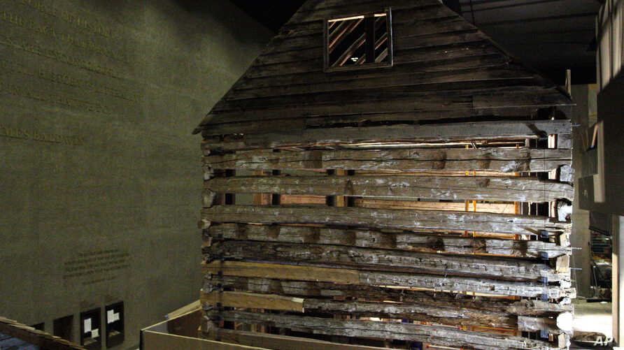 Smithsonian African American Museum: In this photo taken July 18, 2016, a slave cabin from Poolesville, Md., is on display in the Smithsonian National Museum of African American History and Culture in Washington, as seen during a media preview tour.