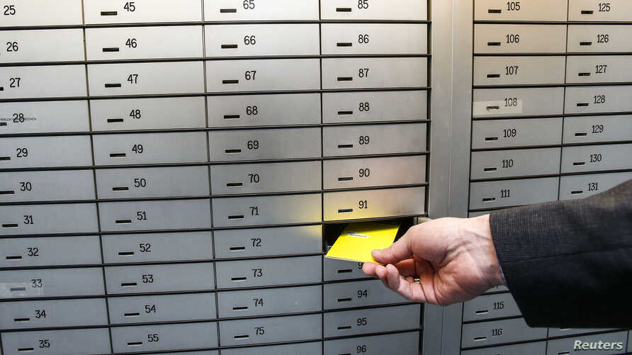 Safe deposit boxes are pictured in a bank in the western Austrian city of Hall in Tirol, April 8, 2013.