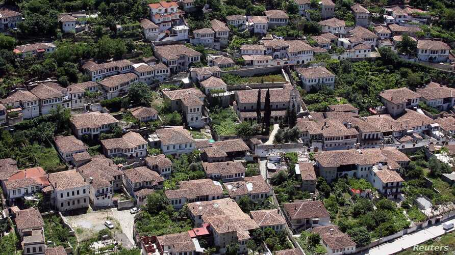 FILE - A general view of Berat, 140 kilometers from Albania's capital, Tirana. The historic Ottoman town and UNESCO World Heritage site will receive infrastructure upgrades thanks to a World Bank loan.