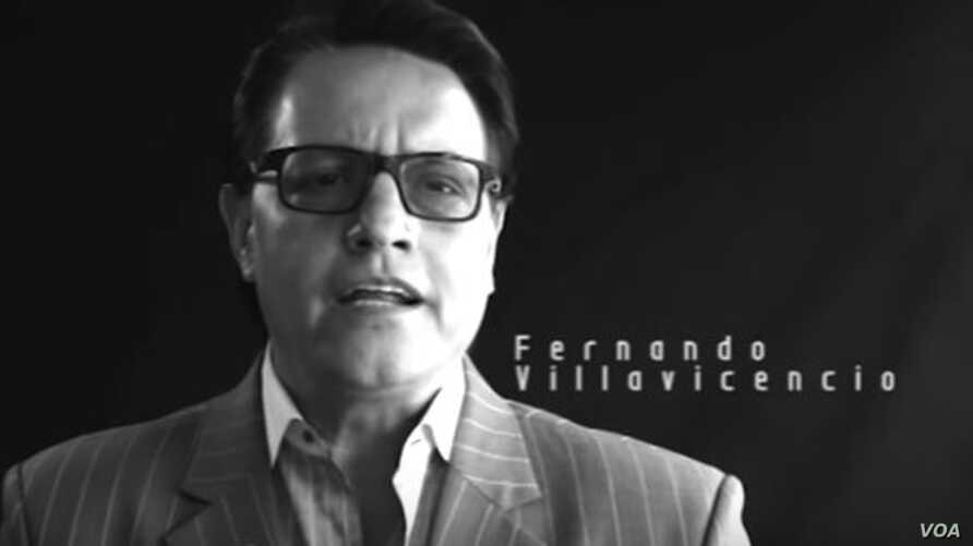 Ecuadoran journalist Fernando Villavicencio, seen in a YouTube video for his Focus Ecuador website, has sought asylum in Peru. Journalism watchdog groups say the country is highly restrictive when it comes to press freedom.