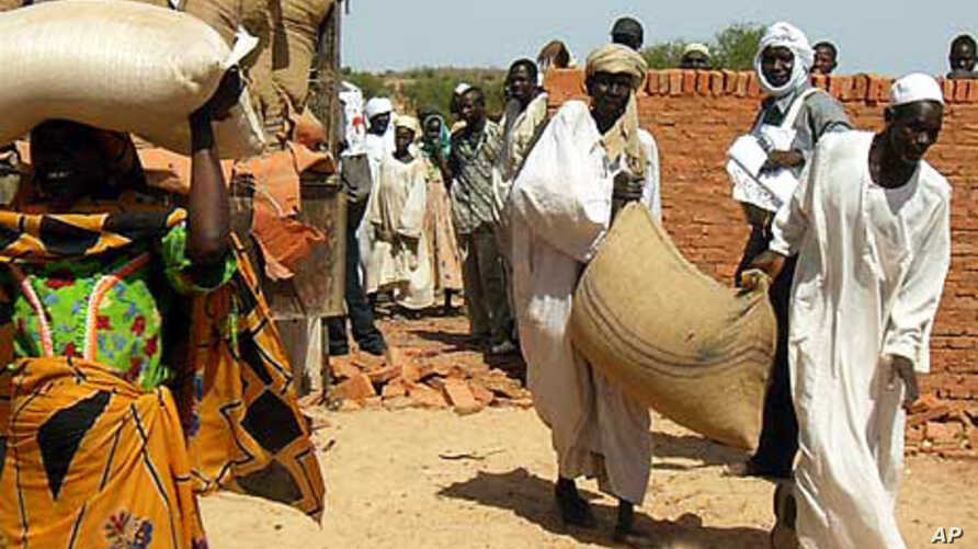 Displaced people in Eastern Chad receive bags of seeds just before the rainy season, 13 Nov 2009