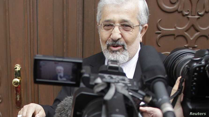 Iran's International Atomic Energy Agency (IAEA) ambassador Ali Asghar Soltanieh arrives at the Iranian Anbassy for a meeting with IAEA officials in Vienna May 14, 2012.