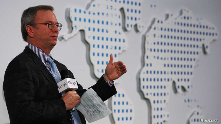 Google Executive Chairman Eric Schmidt speaks at the Chinese University of Hong Kong on Nov. 4, 2013.