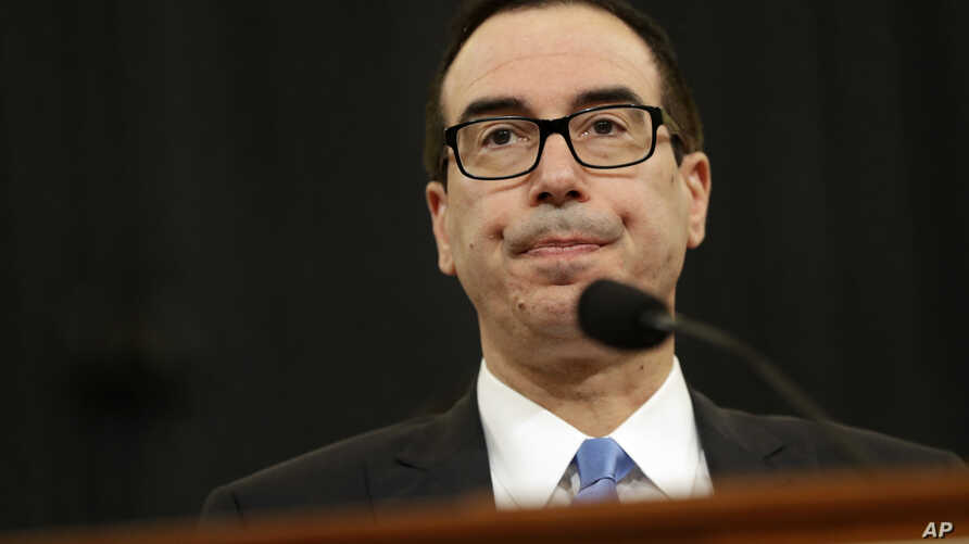 Treasury Secretary Steven Mnuchin testifies on Capitol Hill in Washington, May 24, 2017, before the House Ways and Means hearing on Treasury Department's fiscal 2018 budget proposals.