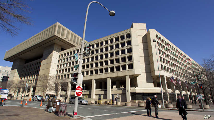 FILE - A view of the FBI headquarters in Washington.