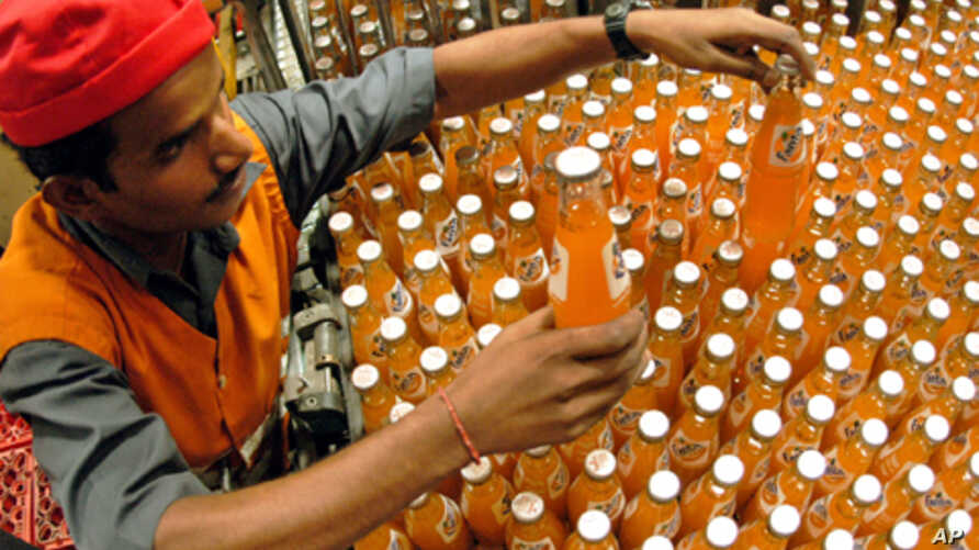A Indian man working at Hindustan Coca-Cola Beverages Company factory in Chennai, India (File)