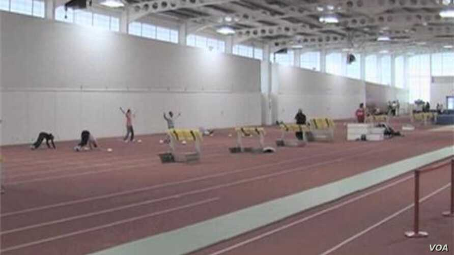 US Olympic Track Team Preparing Far Away From London Crowds