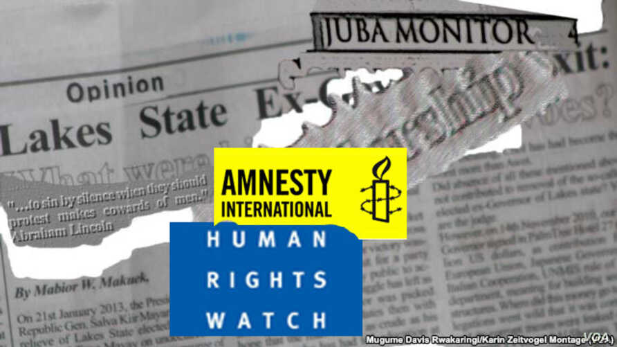 A report by Amnesty International and Human Rights Watch says South Sudanese journalists are being harassed, intimidated and detained by governement security agents.