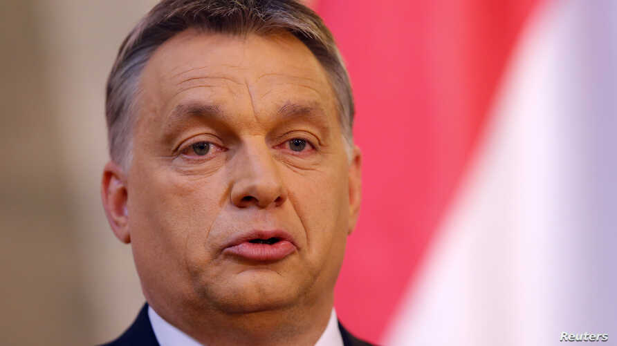 FILE: Hungarian Prime Minister Viktor Orban has repeated a call for ethnic Hungarians in Ukraine to have autonomy. He's shown in Budapest April 7, 2014.