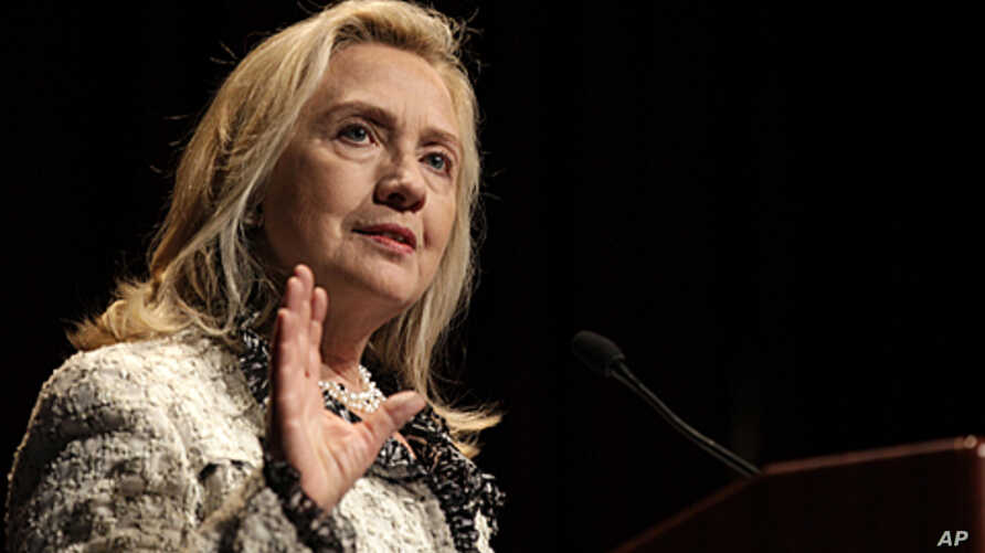 U.S. Secretary of State Hillary Clinton speaks to The Economic Club of New York, October 14, 2011.