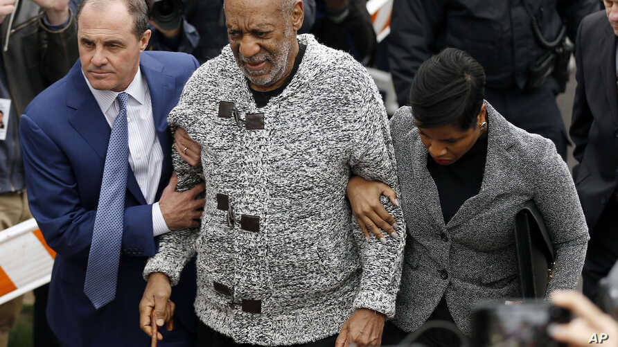 Bill Cosby arrives at court to face a felony charge of aggravated indecent assault on Dec. 30, 2015, in Elkins Park, Pennsylvania.