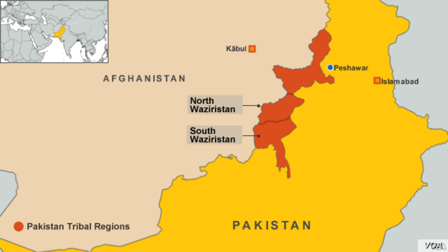 North Waziristan map