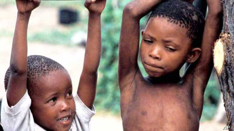 Despite their court victory, Bushmen such as these youngsters still face an uncertain future, as they battle to retain their ancestral lands