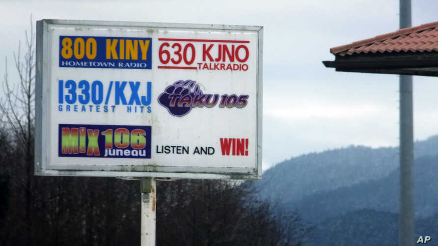 The Federal Communications Commission recently approved a request by Australians Richard and Sharon Burns to increase their interest in a number of radio stations, including those that broadcast from this site shown in Juneau, Alaska, Sunday, March 1