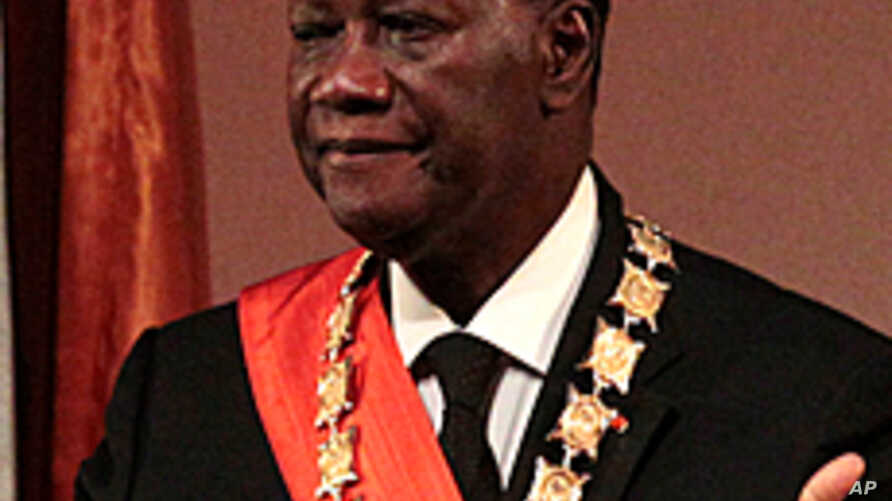 Ivory Coast President Alassane Ouattara during his inauguration ceremony, May 21, 2011.