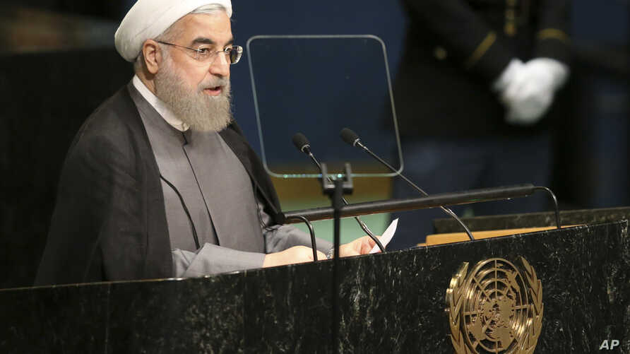 Hassan Rouhani, President of Iran, speaks during the 71st session of the United Nations General Assembly at U.N. headquarters, Sept. 22, 2016.