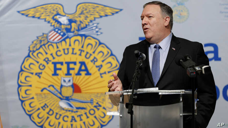 Secretary of State Mike Pompeo speaks to the Future Farmers of America and Johnston High School students, March 4, 2019, in Johnston, Iowa.