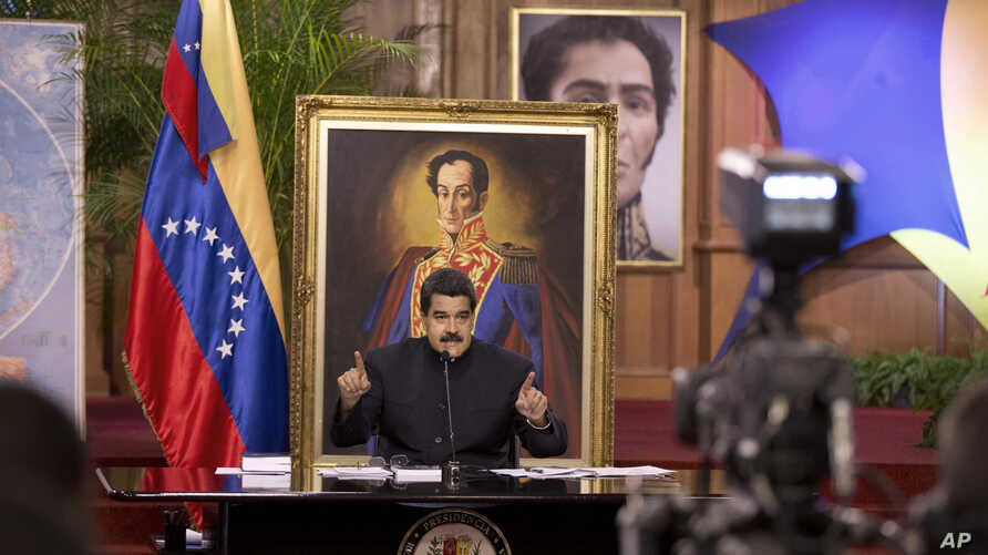 Venezuela's President Nicolas Maduro speaks at a news conference in Caracas, Aug. 22, 2017.