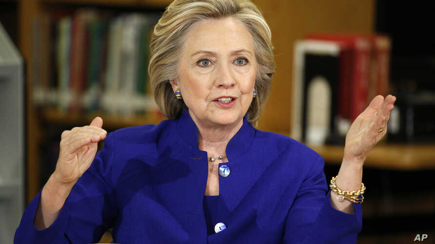 Democratic presidential candidate Hillary Rodham Clinton speaks at an event at Rancho High School, May 5, 2015, in Las Vegas.