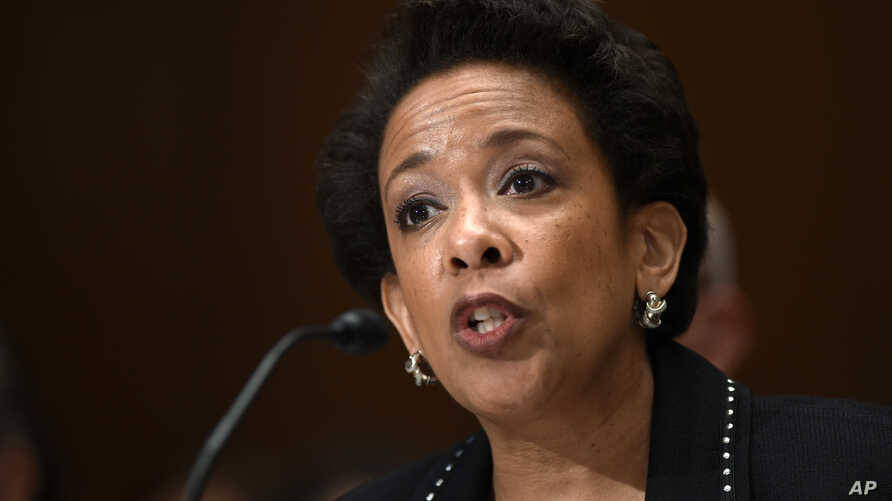 Attorney General Loretta Lynch testifies on Capitol Hill in Washington before the Senate subcommittee on commerce, justice, science and related agencies, May 7, 2015.