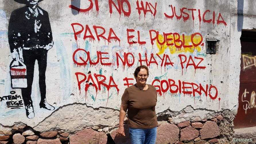 Abigail Agredano is leading a fight against government plans to raise a dam that would provide more water to major urban areas but flood her tiny hometown in Temacapulín, Mexico, July 4, 2017.