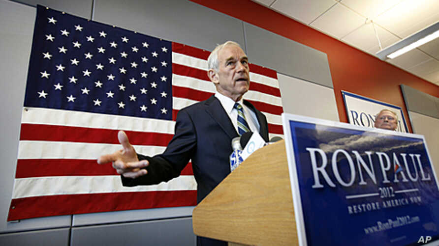 U.S. Representative Ron Paul speaks during a news conference at his newly opened Iowa campaign office in Ankeny, Iowa, May 10, 2011.