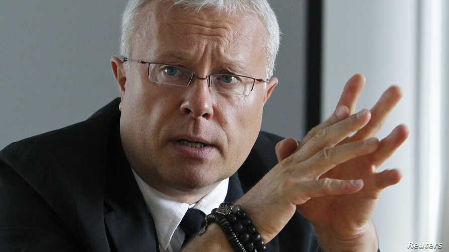 Alexander Lebedev, chairman of Russia's National Reserve Corporation, speaks during an interview with Reuters journalists in Moscow September 25, 2012.