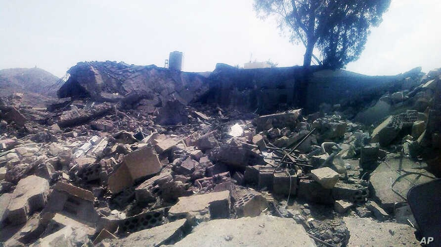 Aftermath of an airstrike on a Médecins Sans Frontières ho