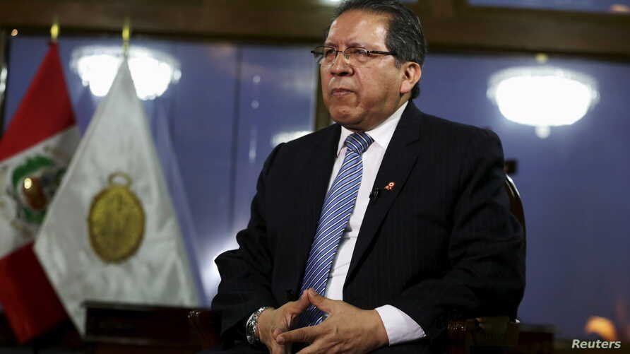 Peru's Attorney General Pablo Sanchez talks to Reuters during an interview at his office in Lima, July 17, 2015.