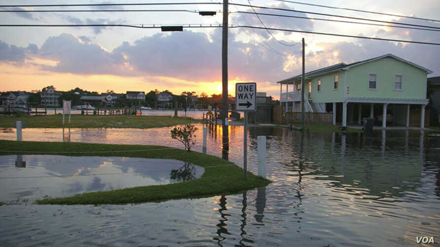 Increasing sea levels will lead to more frequent coastal flooding on the Atlantic coast during extreme spring tides and winter storms.(NOAA).