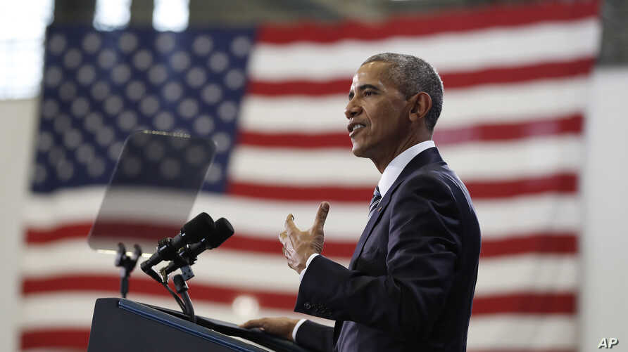 President Barack Obama speaks at MacDill Air Force Base in Tampa, Florida, Dec. 6, 2016, about the administration's approach to counterterrorism campaign.