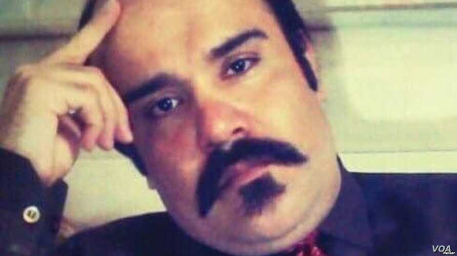 An undated social media image of Vahid Sayyadi-Nasiri, an Iranian activist who died Dec. 12, 2018, after rights groups said he had been on a hunger strike for 60 days to protest his detention in Qom.
