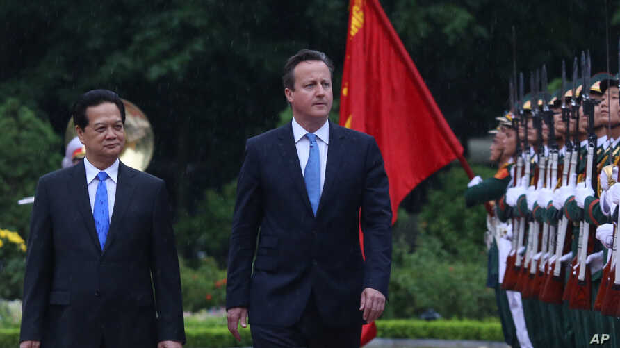 British PM David Cameron, right, seen here with Vietnamese PM Nguyen Tan Dung, toured Asia this week, calling for increased anti-corruption as a means to boost trade.