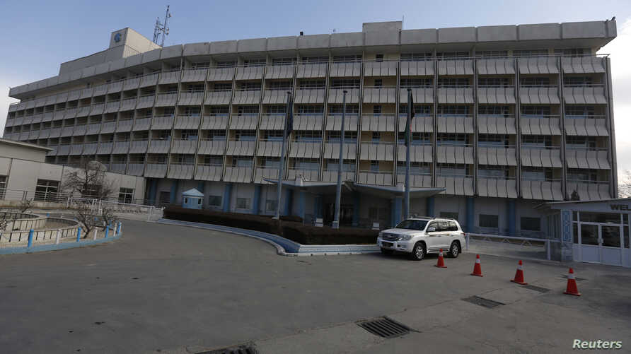 FILE - A photo shows a general view of the Intercontinental Hotel in Kabul, Afghanistan, Jan. 25, 2016.
