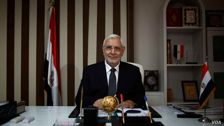 Strong Egypt Party founder Abdel Moneim Aboul Fatouh. (Yuli Weeks/VOA)