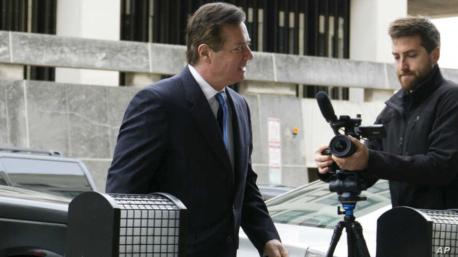Paul Manafort, President Donald Trump's former campaign chairman, arrives at the federal courthouse, Feb. 28, 2018, in Washington.