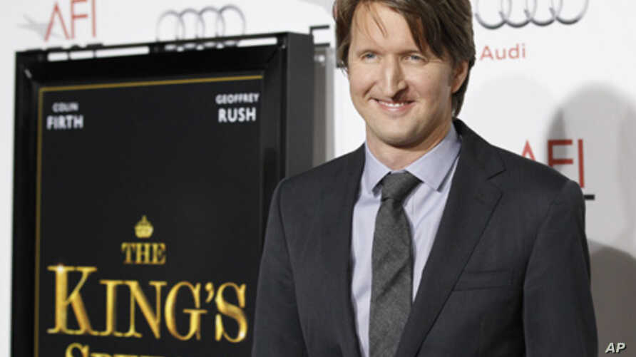 "Director Tom Hooper poses at a screening of his film ""The King's Speech"" at the Grauman's Chinese theatre in Hollywood, California, 5 Nov 2011."
