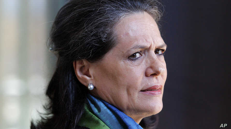FILE - India's Congress Party President Sonia Gandhi is pictured at the Apartheid Museum in Johannesburg, South Africa, Aug. 21, 2007. In a letter to India's prime minister, she has urged passage of legislation giving women more power.
