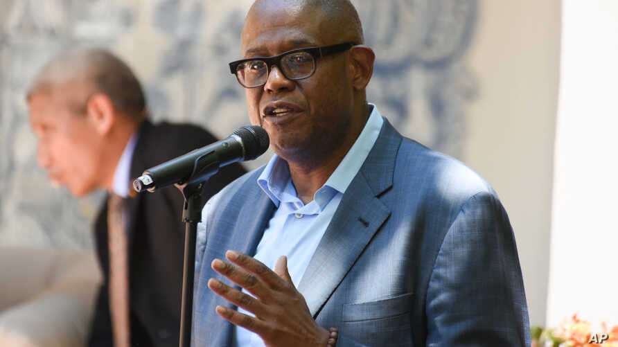 Forest Whitaker speaks on stage during the Peak Mind Foundation celebration held at Rancho Las Lomas, July 4, 2015 in Silverado, Calif.