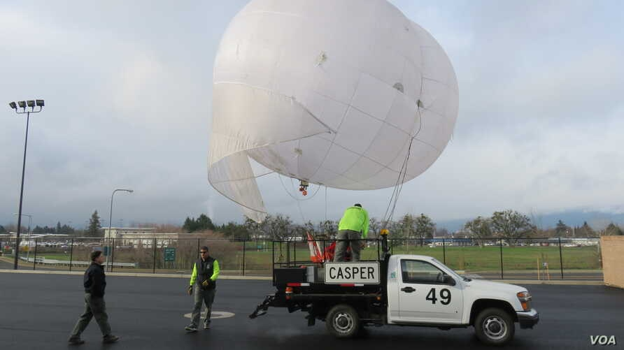 The fog busting crew at Oregon's Medford Airport gets ready to clear the air.