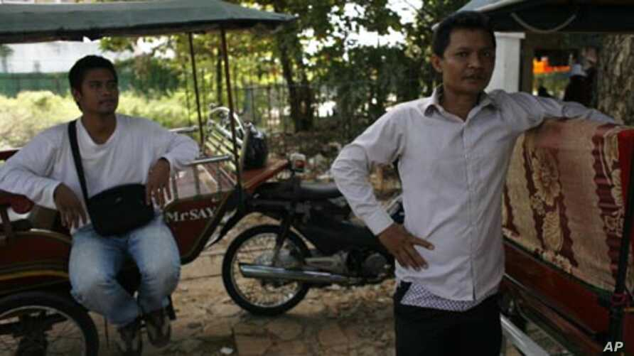 Cambodian tuk-tuk drivers in Siem Reap, like Chan and Sambath, are not being helped by the rise in Asian tourists.