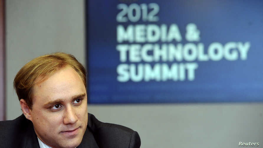FILE - CrowdStrike co-founder and CTO Dmitri Alperovitch speaks during the Reuters Media and Technology Summit in New York, June 11, 2012.