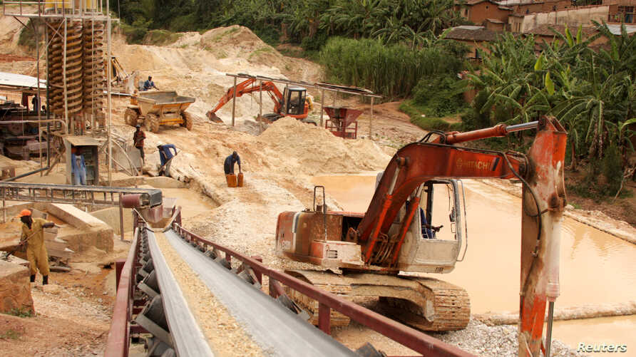 FILE - A general view shows a mineral processing plant in Gatumba, western Rwanda.