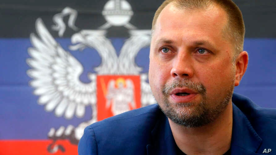 The Prime Minister of the self proclaimed 'Donetsk People's Republic' Alexander Borodai speaks during a news conference in Donetsk, eastern Ukraine, June 21, 2014.