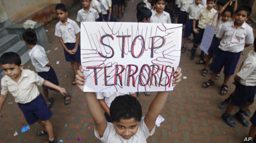 Mumbai students march for peace and condemn recent terror attacks in the city, India, July 20, 2011.