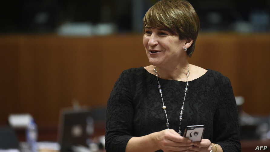 Dutch Minister for Foreign Trade and Development Cooperation Lilianne Ploumen attends a meeting of EU trade ministers at the EU Headquarters in Brussels on Nov. 11, 2016.